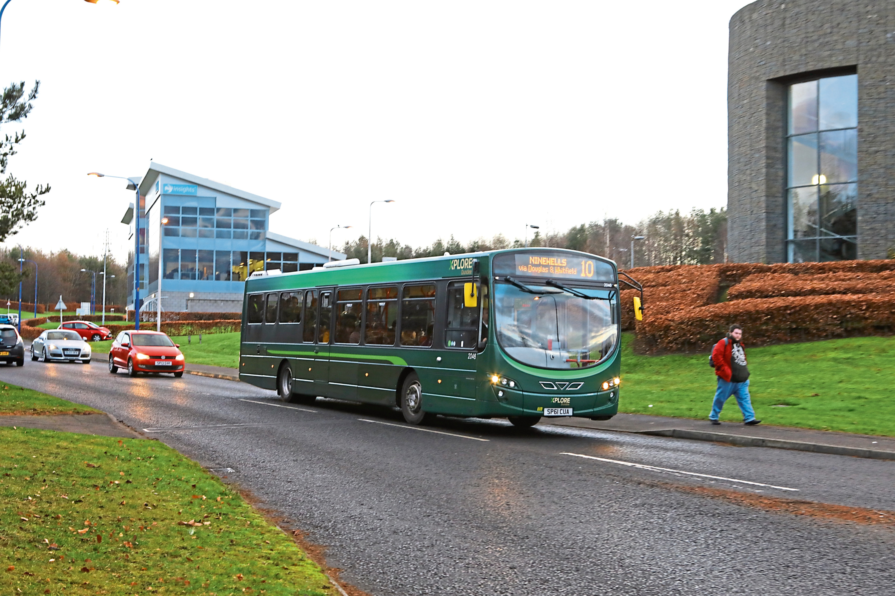 The bus at Dundee Technology Park