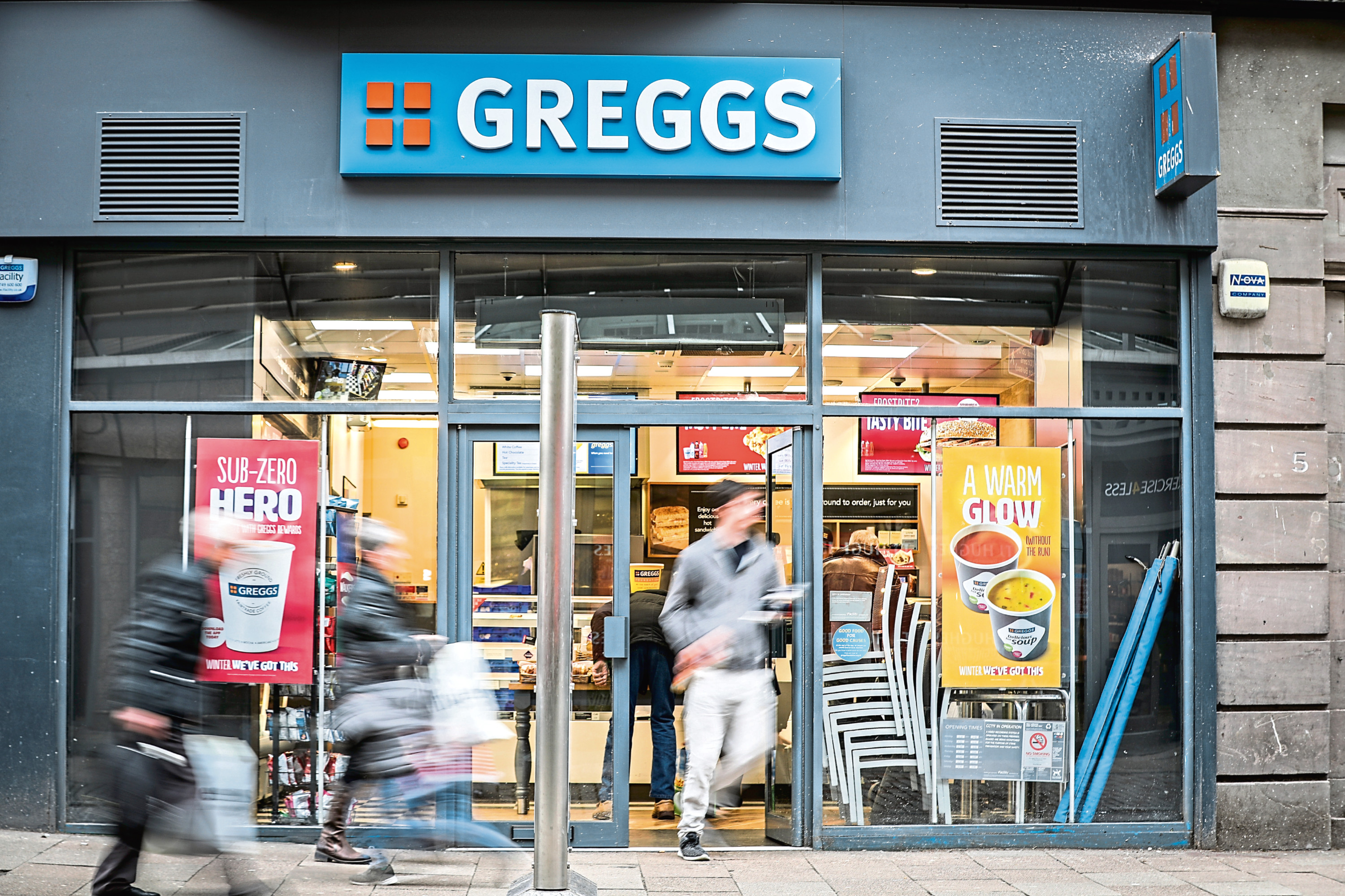 Greggs' on the High Street sold out.