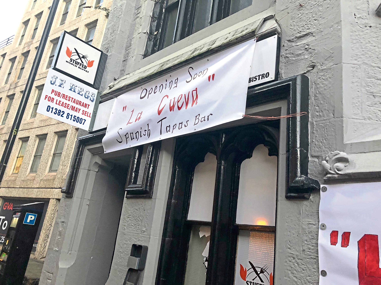 The banner above the door