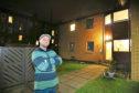 Alan Rafferty outside his flat on Cardross Place