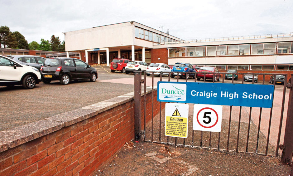 Pupils will return to schools across Tayside and Fife, including Craigie High School, from August 12.