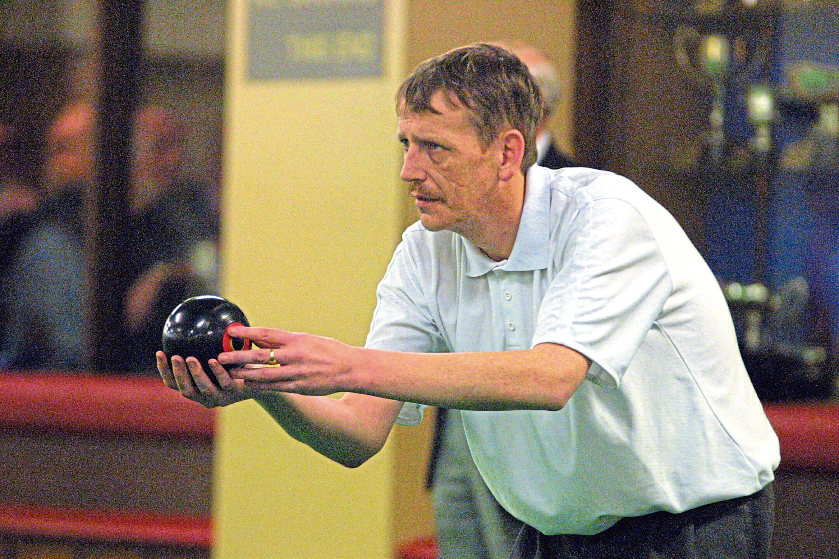 Kevin Brunton in action