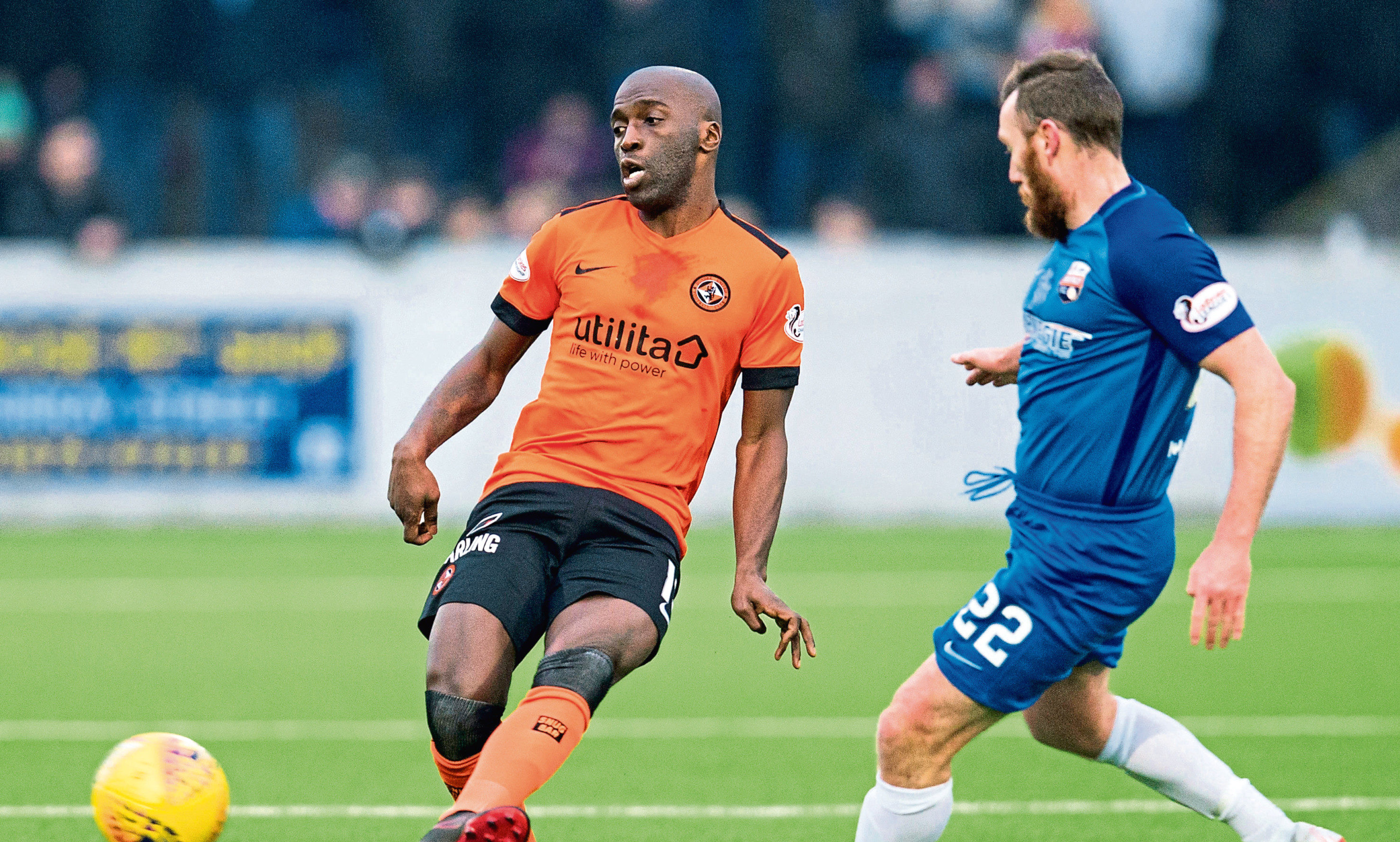 Senegalese midfielder Morgaro Gomis made his third Dundee United debut                in their 4-0 Scottish Cup fourth-round win over Montrose at Links Park on Saturday