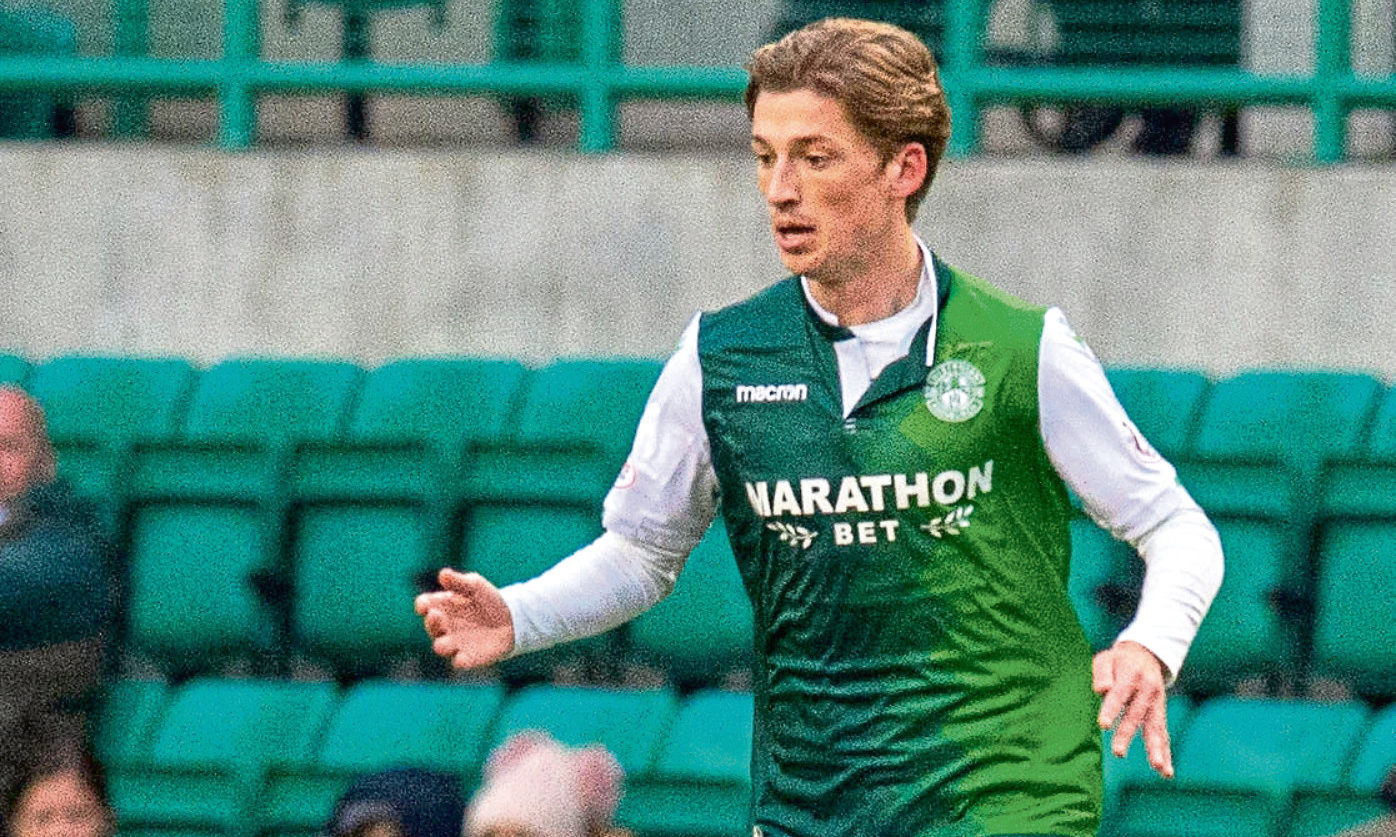 Ryan Gauld in action for Hibs earlier this year.