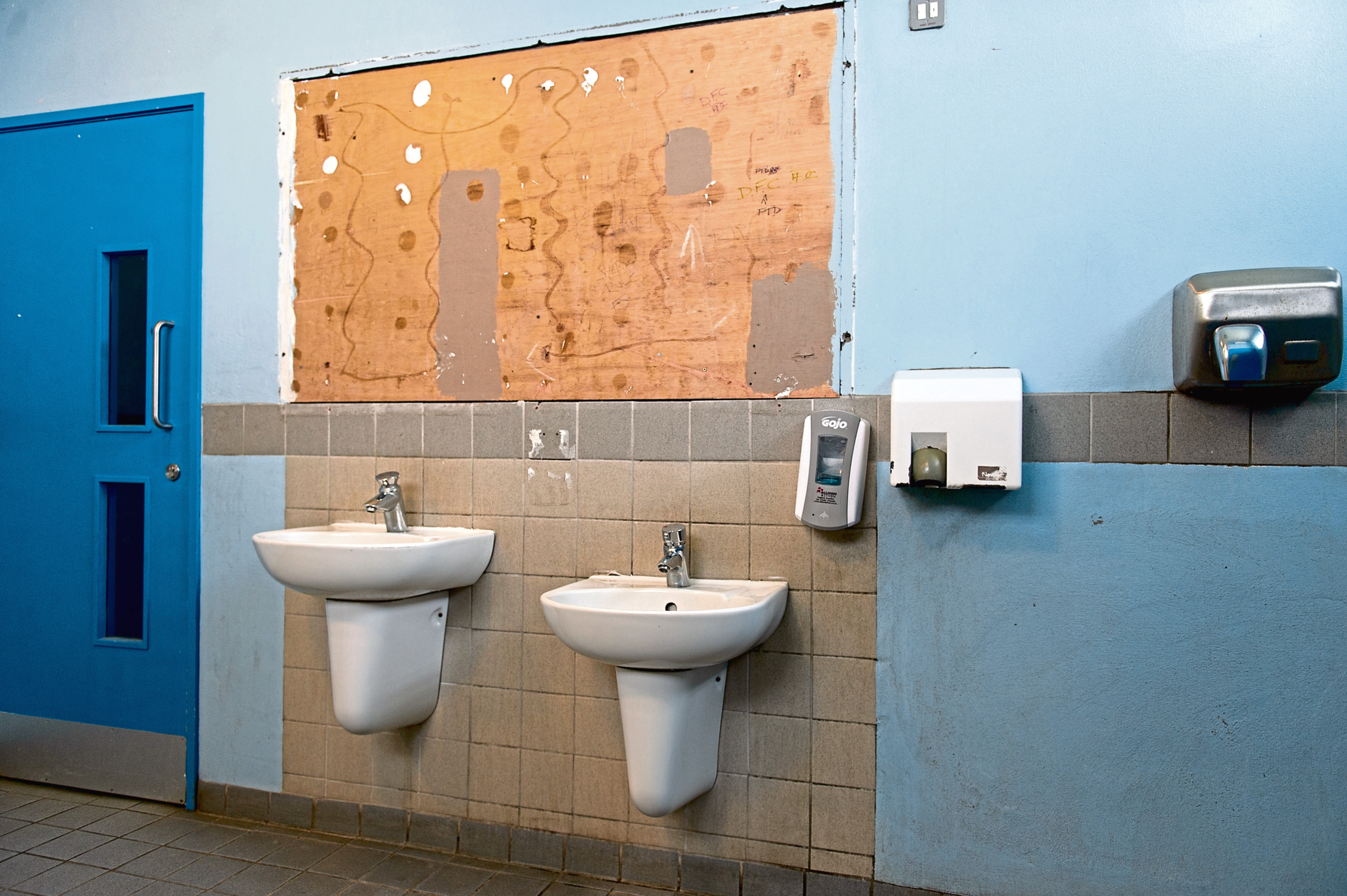 Inside the toilets at Castle Green, Broughty Ferry toilets