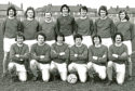 Lindsay Kydd, back row, second from left, with Blairgowrie JFC.