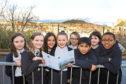 Picture shows St Joseph's Primary pupils, from left: Abby Brown, Katrine Gangloo, Natalia Labuda, Beth Petrie, Eva Dey, Kurt Noveros, Gabriella Curran and Nathan Emmanuel
