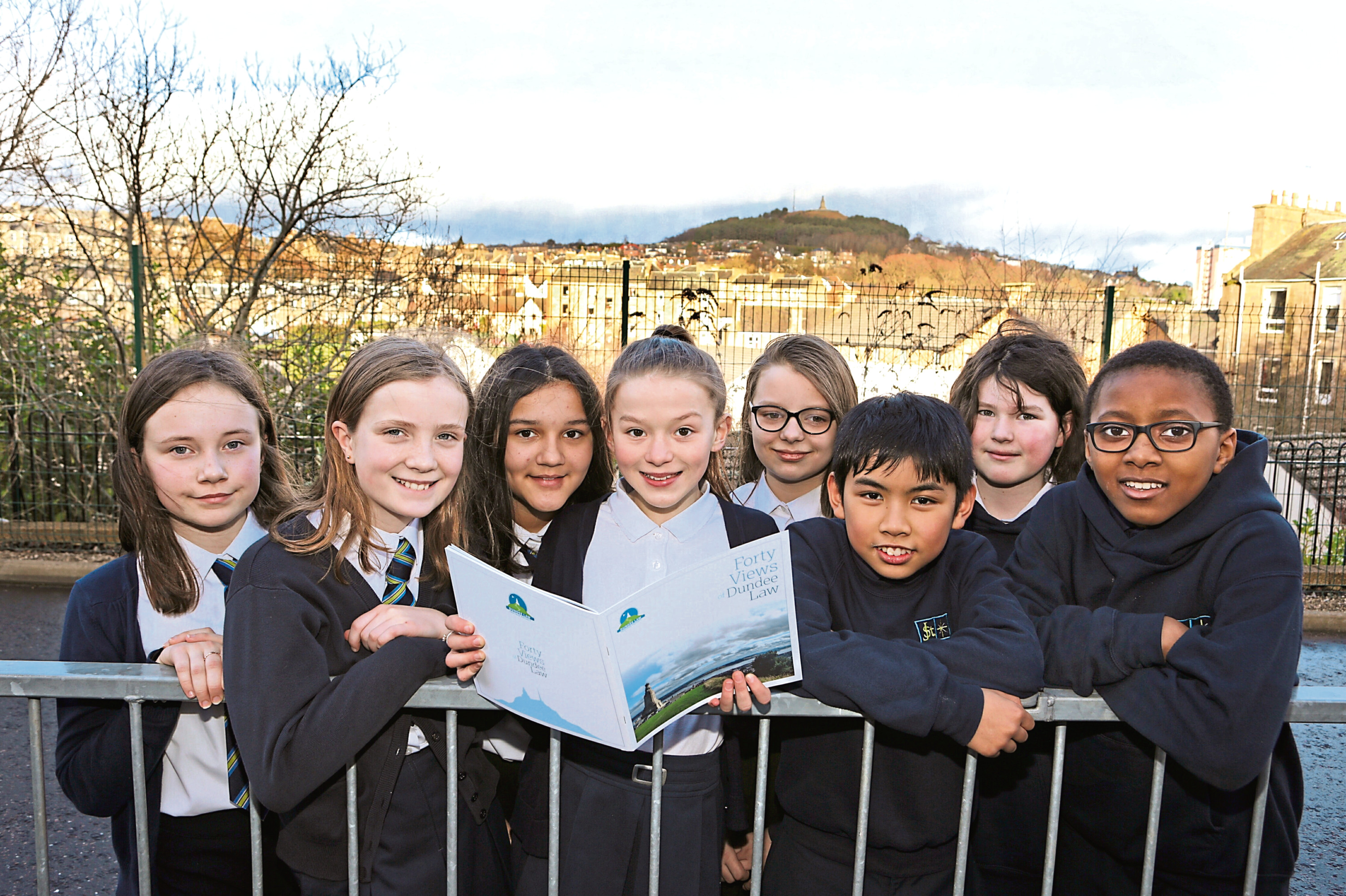 Picture shows St Joseph's Primary pupils, from left: Abby Brown, Katrine Gangloo, Natalia Labuda, Beth Petrie, Eva Dey, Kurt Noveros, Gabriella Curran and Nathan Emmanuel