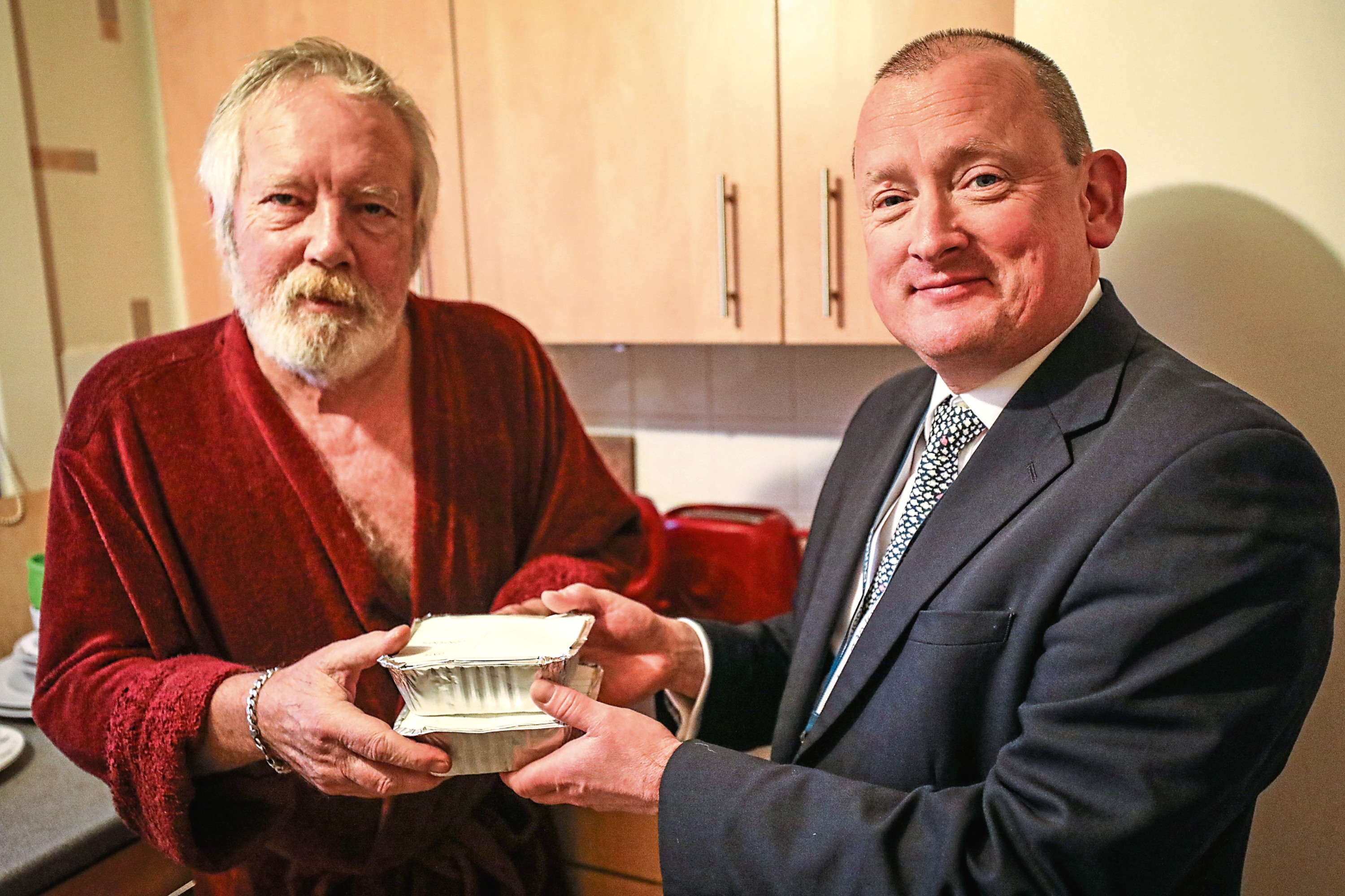 Joseph O'Neill and Neil MacKinnon have formed a firm friendship thanks to volunteer scheme Meal Makers