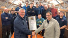 Arbroath's RNLI lifeboat crew marked a major achievement for one of their own recently when Ron Churchill Senior was presented  with a certificate of service following his retirement.  Ron received the accolade after marking his 36th year with the RNLI