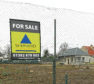 The site with for sale signs