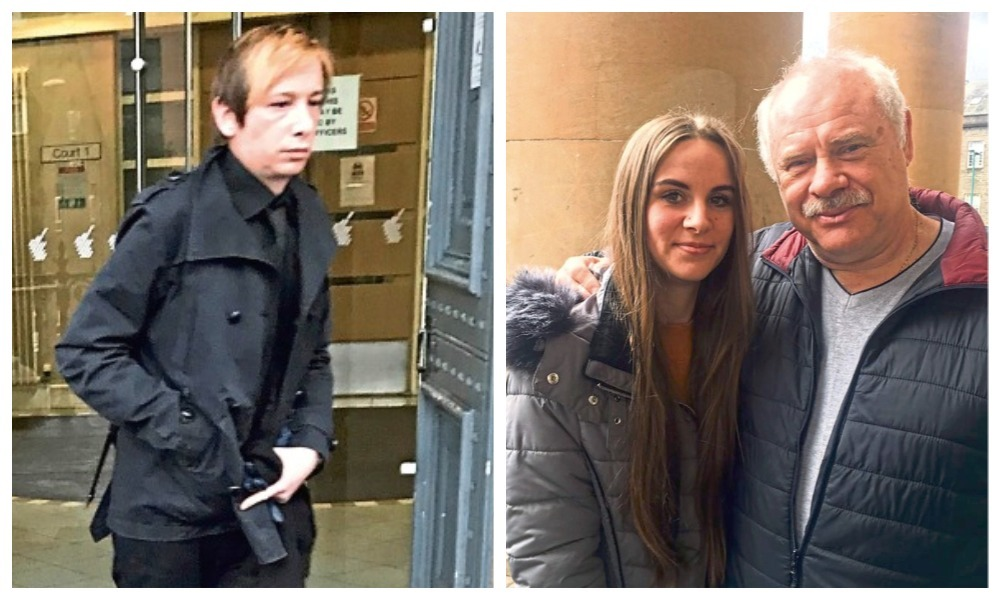 Allan Lawson (left) and Benno Wolecki's granddaughter Adele pictured with his brother collage