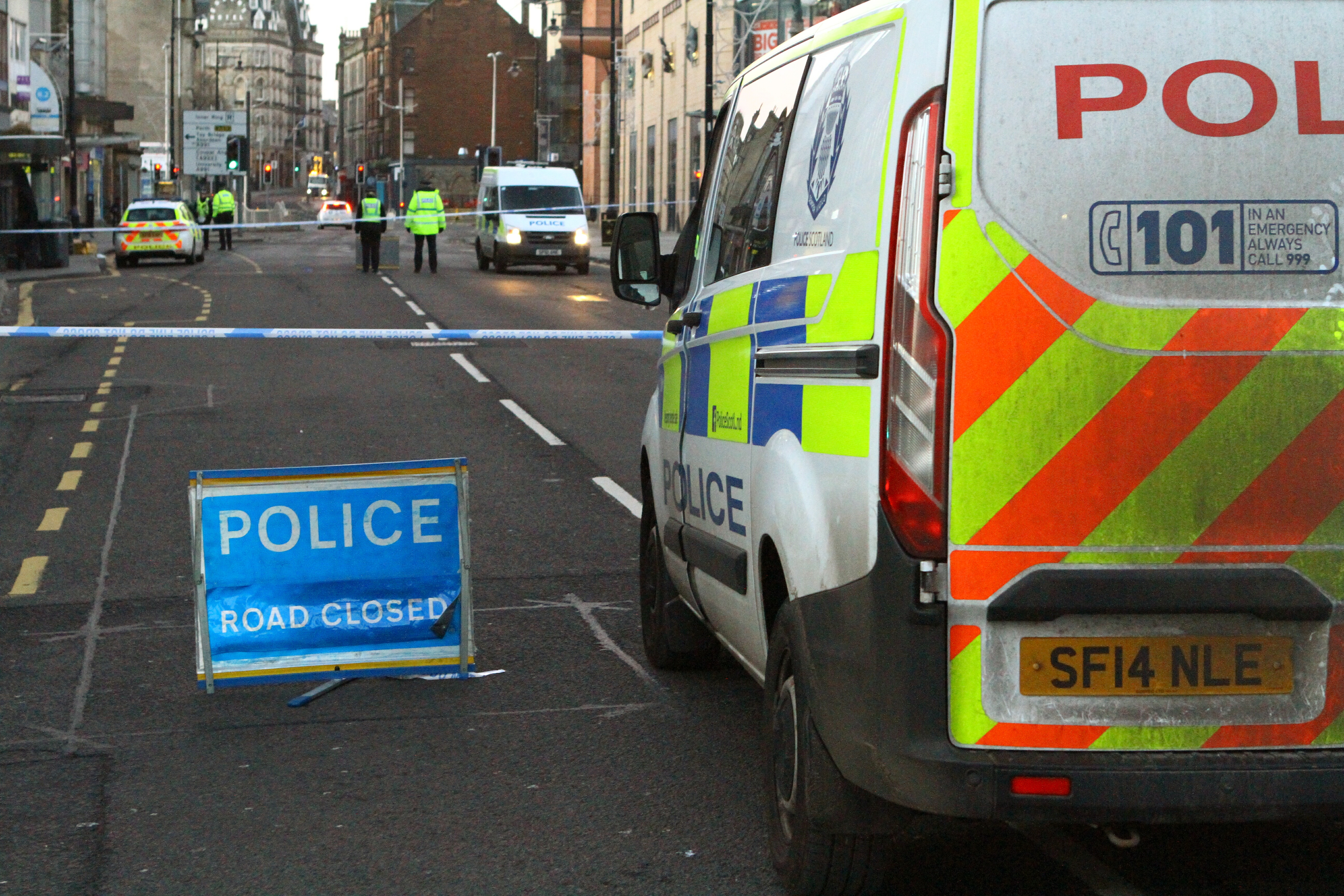 Police on the scene at Nethergate