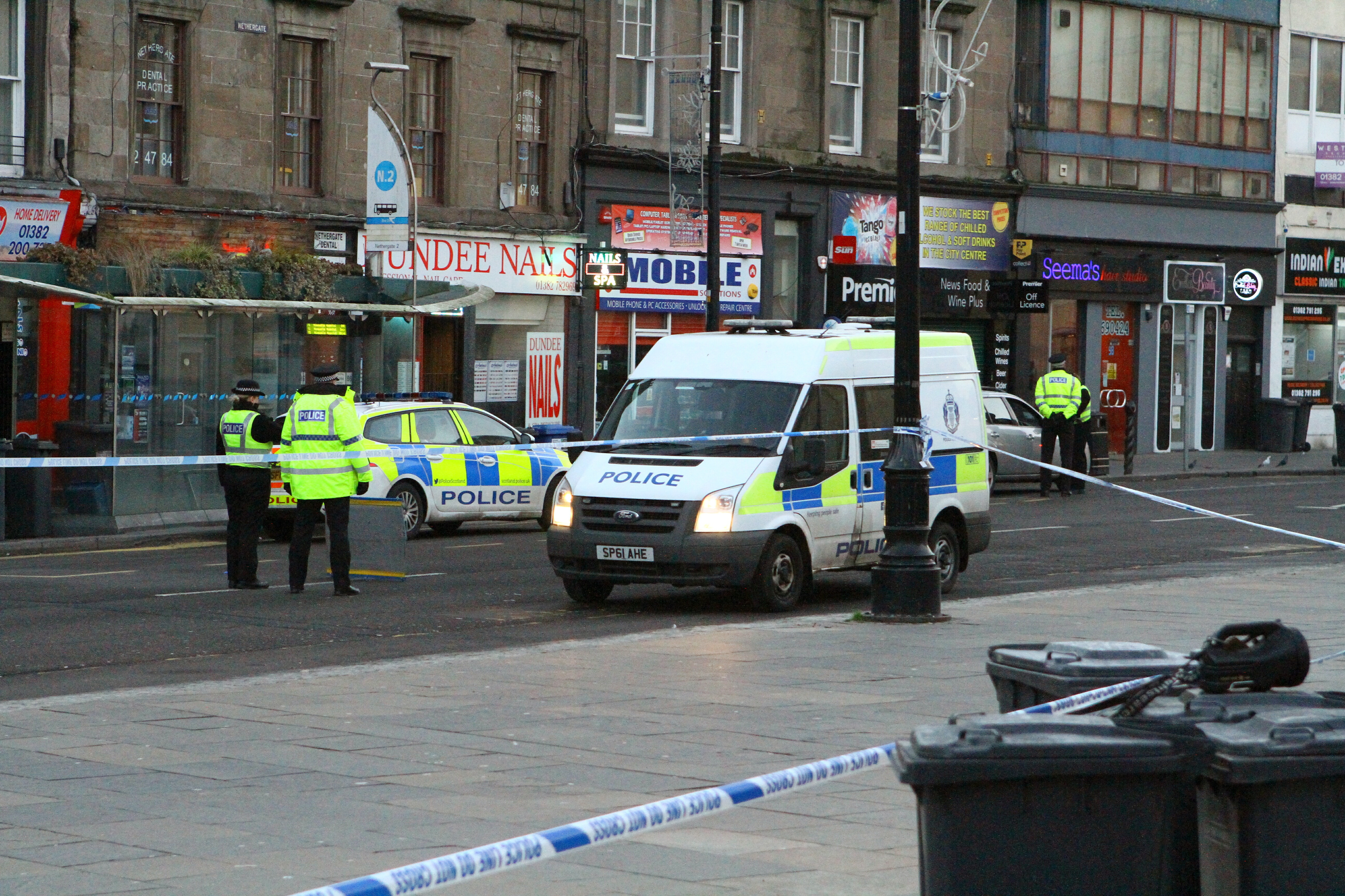 The scene at Nethergate after the incident