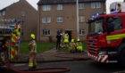 The scene at Ballindean Road, Douglas