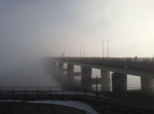 Tay Road Bridge in fog
