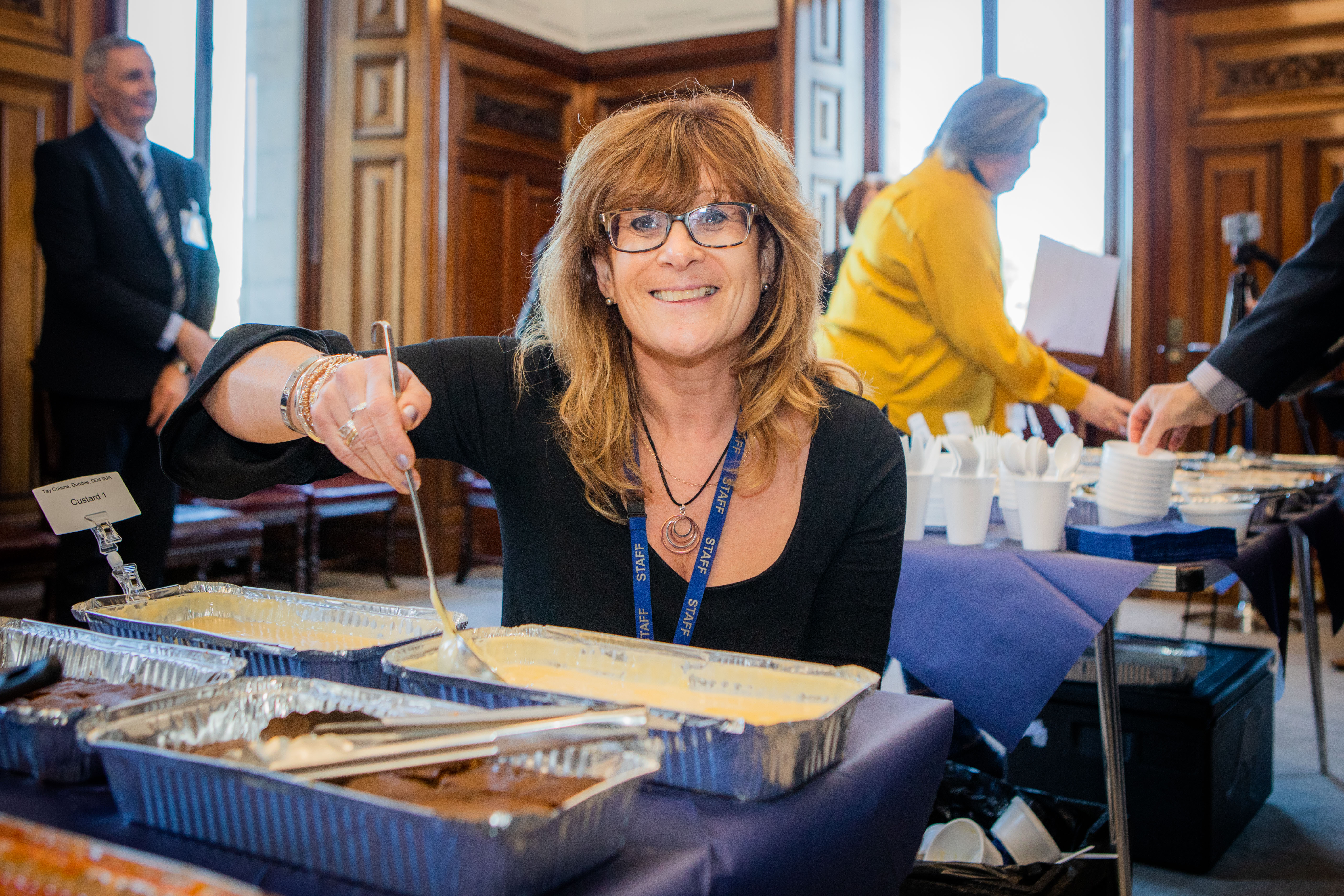 Lindsey Hamiton has a taste test at Perth City Chambers