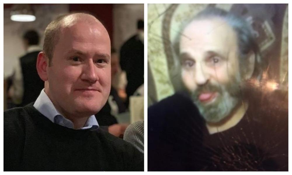 Sandy Scroggie (left) and James Scroggie collage