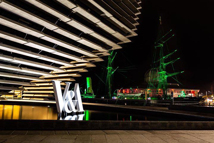 The V&A at night.