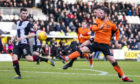 Dundee United's Nicky Clark doubles his side's lead.