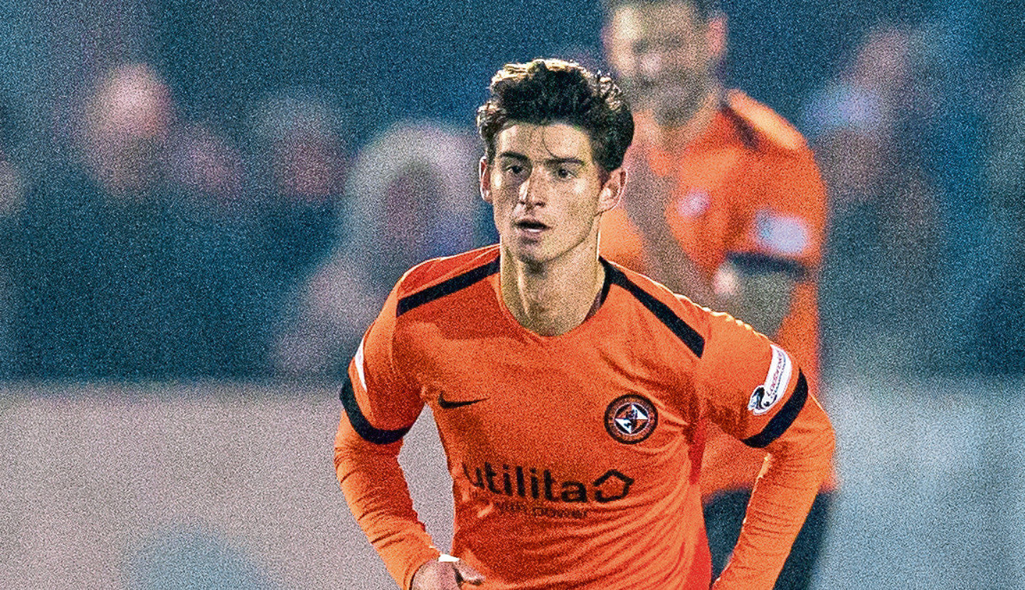 Ian Harkes in action for Dundee United.