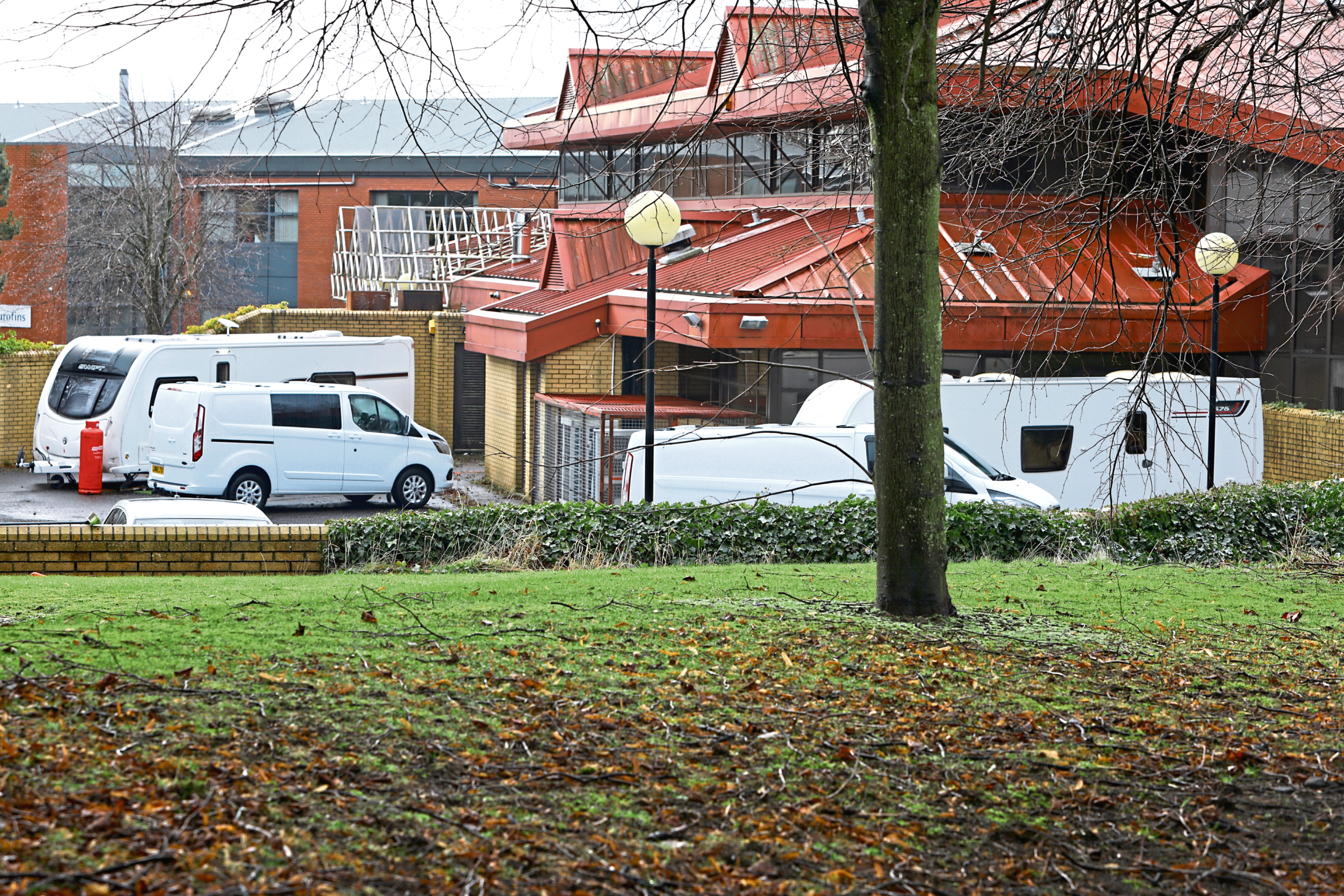 Travellers at the Technology Park in Dundee