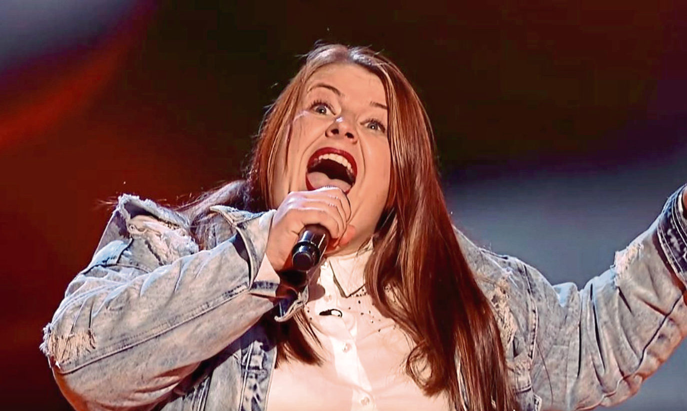 Paramedic Claire McCulloch was on The Voice on Saturday