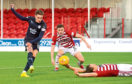 Scott Wright made an instant impact for Dundee when he opened the scoring at Hamilton. The Dark Blues had to settle for a point after Accies netted a stoppage-time leveller