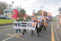 Hundreds took to the streets in support of Unison members