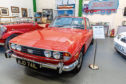 A Triumph Stag 1971, one of the new cars in the Dundee Museum of Transport display