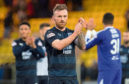 Dundee's Craig Curran at full time on Saturday in the win against Livingston