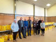 From left, Graeme Dey MSP, Johnny Gordon from The Delaration Band, Peter Stirling of Peter Stirling Fruit Farms, Morven Webster who is Lighthouse Kids co-ordinator, April Wedgburrow, Lighthouse Kids volunteer, Dave Webster, Arbroath Town Mission Pastor and Linda Strachan, a Lighthouse Kids volunteer