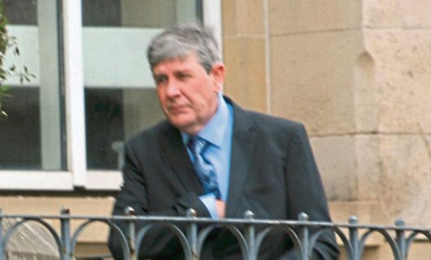 Andrew Bayne leaving Dundee Sheriff Court