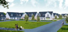 An artist's impression of how part of the development will look