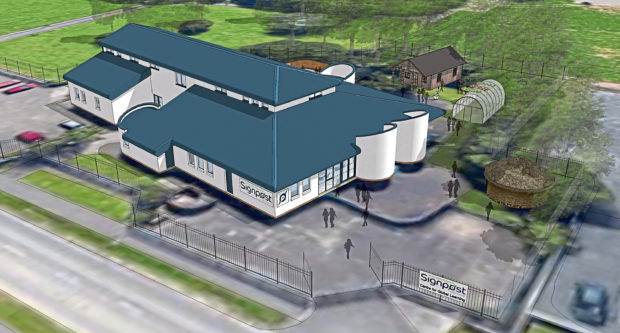 """Tele news JB story. The Signpost Centre in Whitfield is set to reinvent itself as a """"Centre for Global Learning"""" in the near future with a renovation scheme that aims to bring the building into wider use. Images supplied by Signpost of plans."""