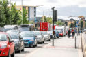 Queuing traffic in Dundee city centre