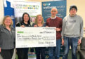The £500 cheque for DAMH