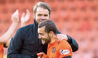 Dundee United manager Robbie Neilson (left) and Paul McMullan.