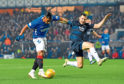 Dundee lost 4-0 to Rangers at Ibrox last night to fall back into the relegation play-off spot