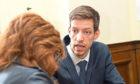 Council leader John Alexander talks to Tele reporter Lindsay Hamilton