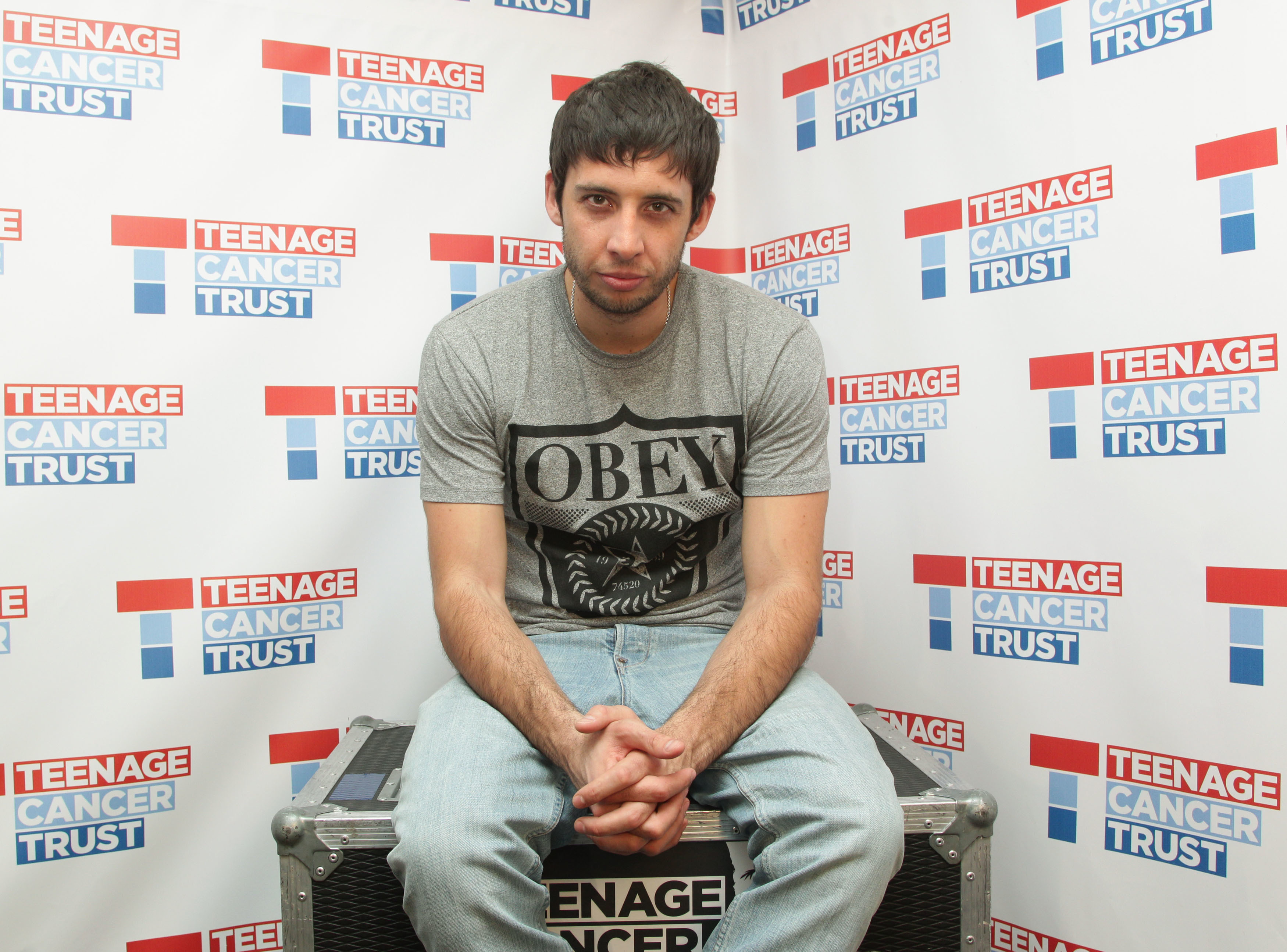 Elliot Gleave, better known as rapper Example, backstage during the Teenage Cancer Trust series of concerts, at the Royal Albert Hall in west London