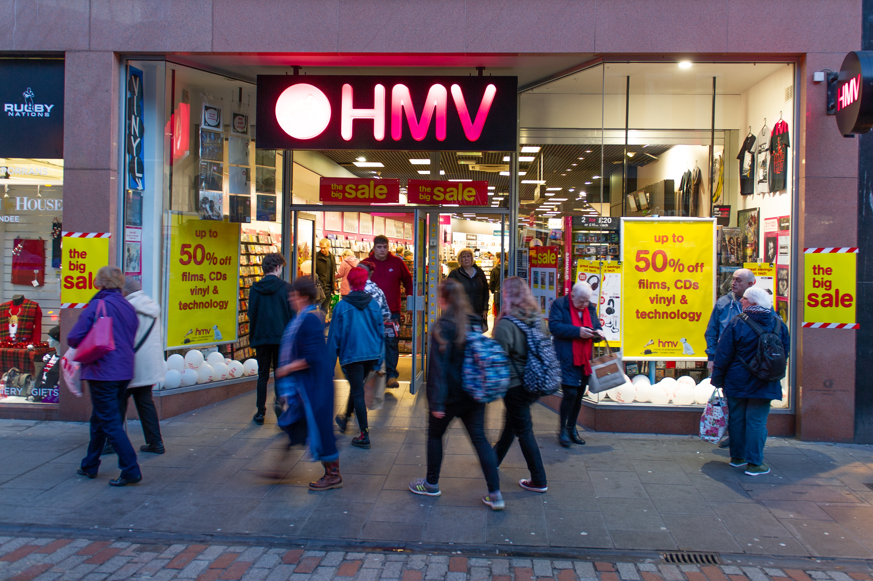 HMV in Dundee will remain open.