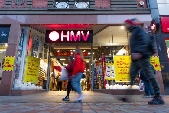 HMV in Dundee.