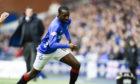 Glen Kamara in action on his Rangers debut against St Johnstone