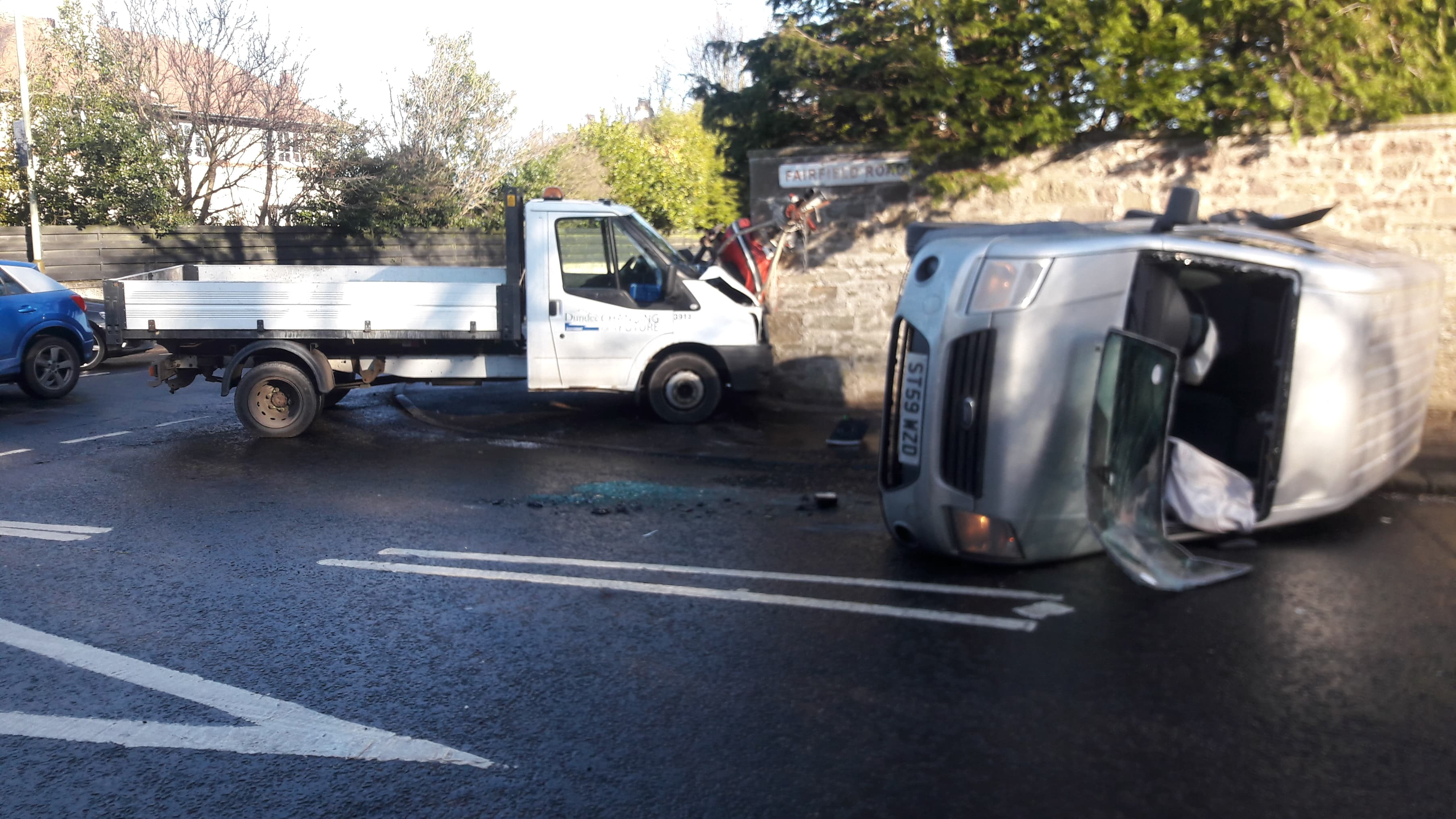 The crash took place on the junction of Strathern Road and Fairfield Road