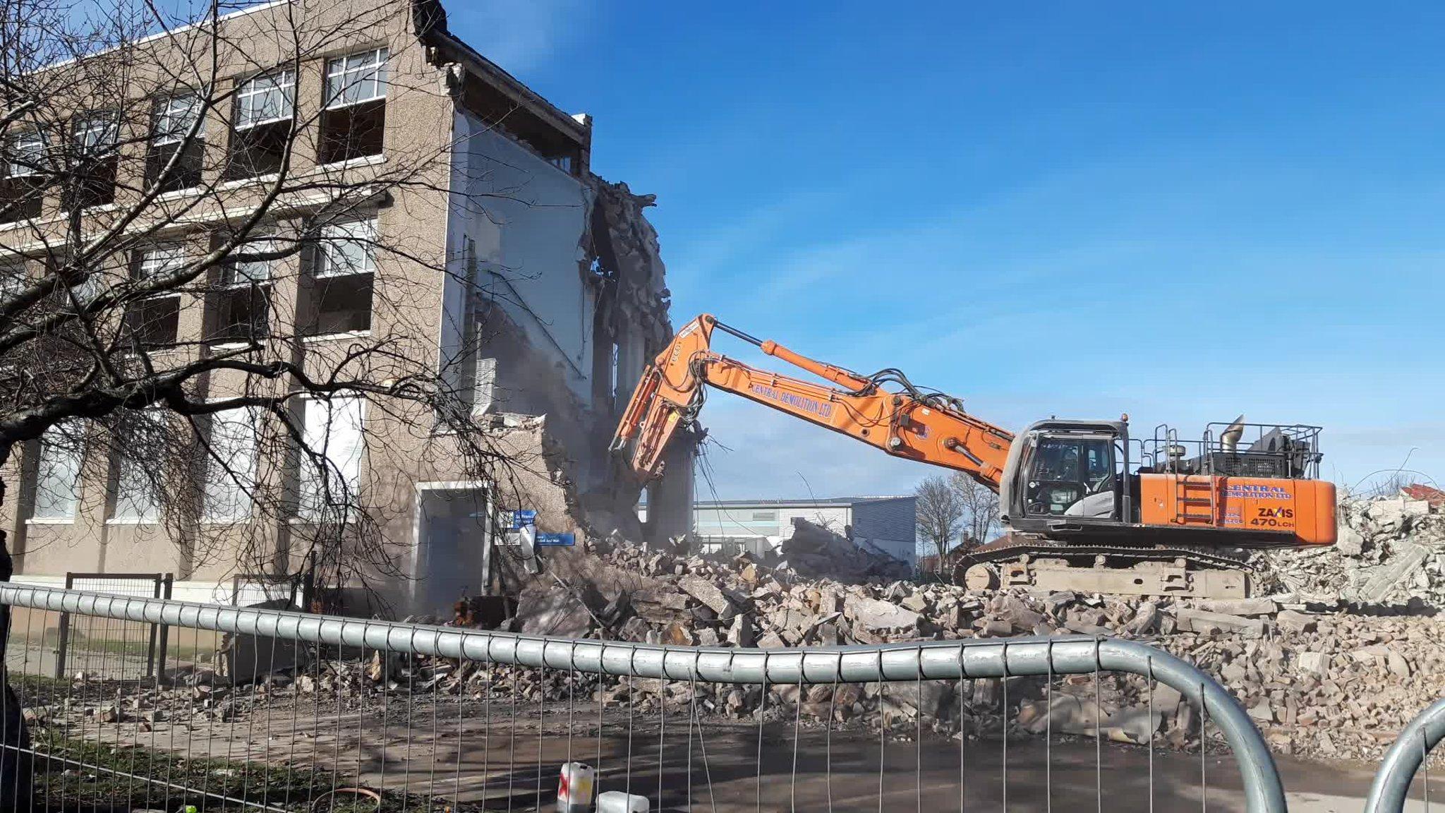 The school was demolished last year