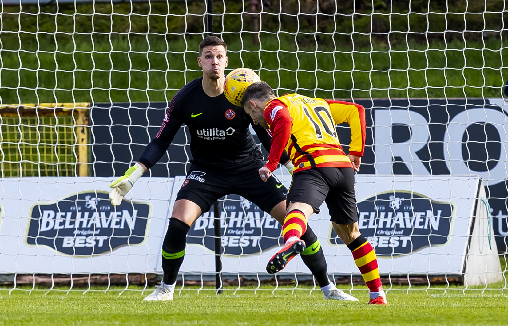 Former United man Scott McDonald scores to make it 1-0 to Partick Thistle.