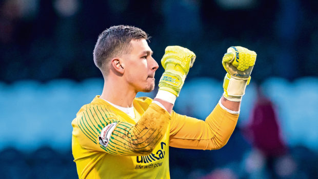 Dundee United goalkeeper Benjamin Siegrist.