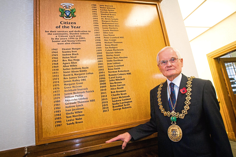 Lord Provost, Ian Borthwick.
