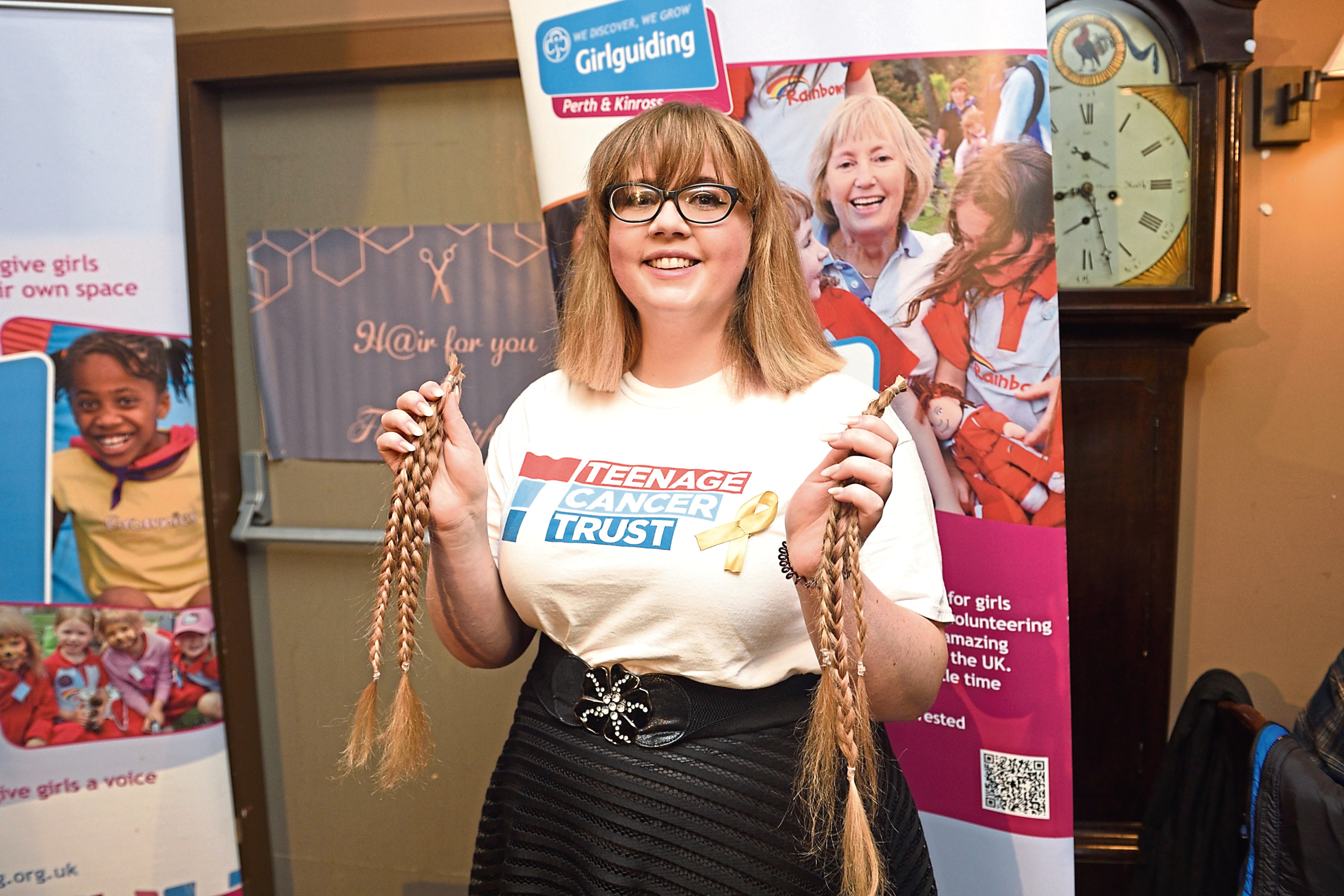 Alison Smith after having her long locks shorn for charity